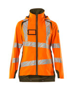 19011-449-1433 Hard Shell Jacke - hi-vis Orange/Moosgrün