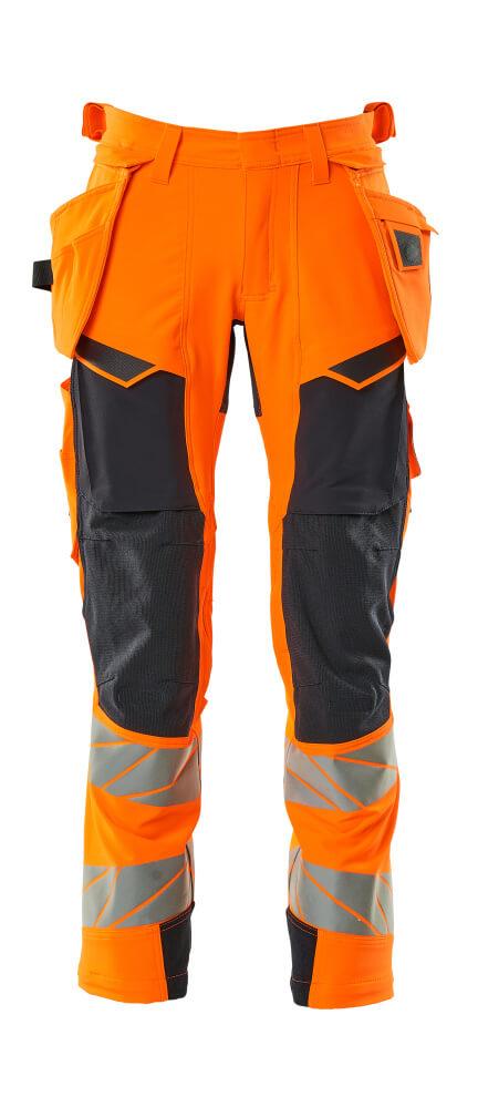 19031-711-14010 Hose mit Hängetaschen - hi-vis Orange/Schwarzblau