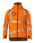 19035-449-1433 Winterjacke - hi-vis Orange/Moosgrün