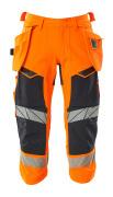 19049-711-14010 Dreiviertel-Hose mit Hängetaschen - hi-vis Orange/Schwarzblau