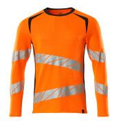 19081-771-14010 Langarm T-Shirt - hi-vis Orange/Schwarzblau