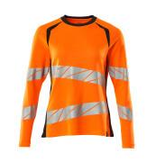 19091-771-14010 Langarm T-Shirt - hi-vis Orange/Schwarzblau