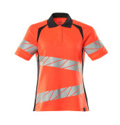 19093-771-14010 Polo-Shirt - hi-vis Orange/Schwarzblau