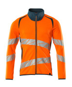 19184-781-1444 Sweatshirt - hi-vis Orange/Dunkelpetroleum