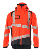 19301-231-14010 Hard Shell Jacke - hi-vis Orange/Schwarzblau