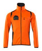 19403-316-14010 Fleecepullover - hi-vis Orange/Schwarzblau