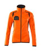 19453-316-14010 Fleecepullover - hi-vis Orange/Schwarzblau