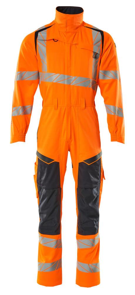 19519-236-14010 Arbeitsoverall - hi-vis Orange/Schwarzblau