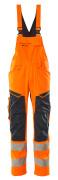 19569-236-14010 Arbeitslatzhose - hi-vis Orange/Schwarzblau