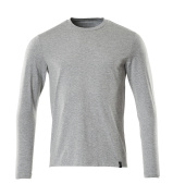 20181-959-08 Langarm T-Shirt - Grau-meliert