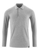 20483-961-08 Polo-Shirt, Langarm - Grau-meliert