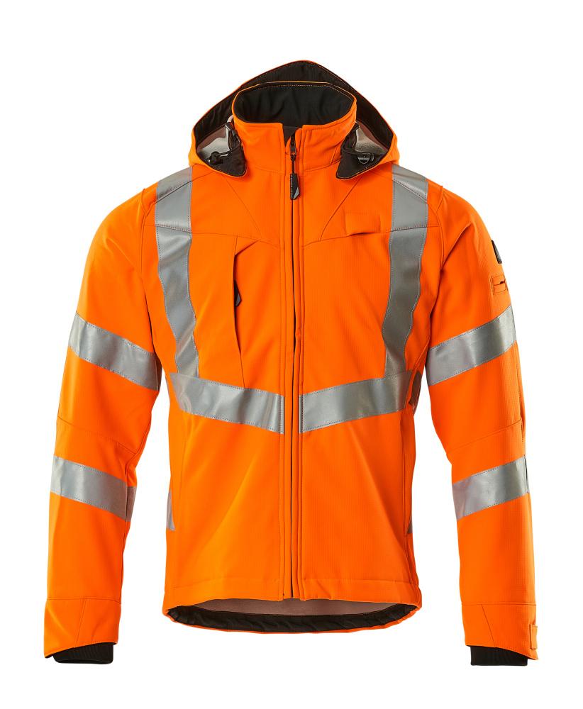 20502-246-14 Soft Shell Jacke - hi-vis Orange