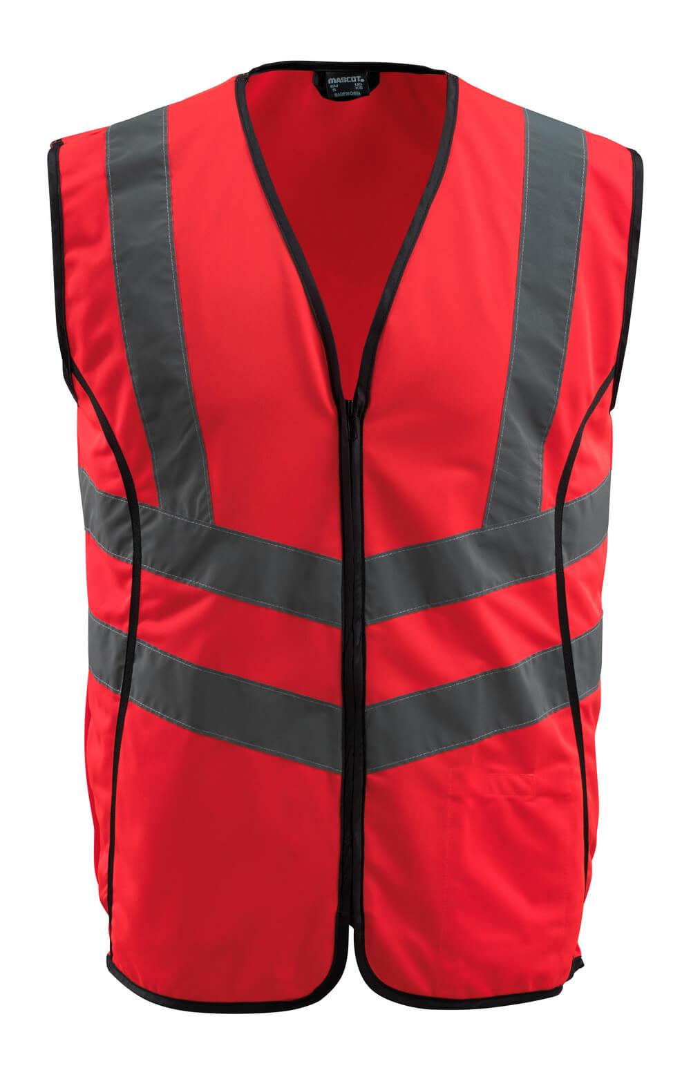 50145-982-222 Warnschutzweste - hi-vis Rot