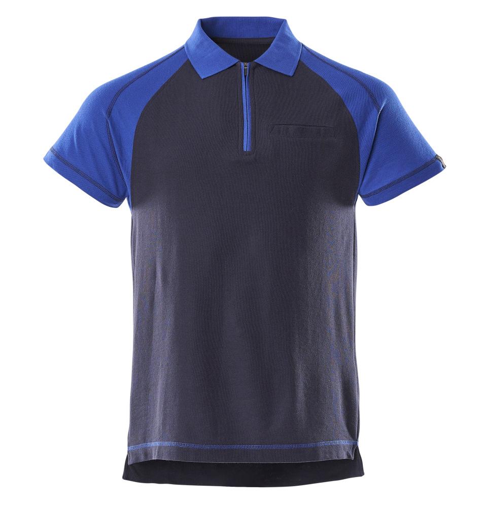50302-260-111 Polo-Shirt mit Brusttasche - Marine/Kornblau