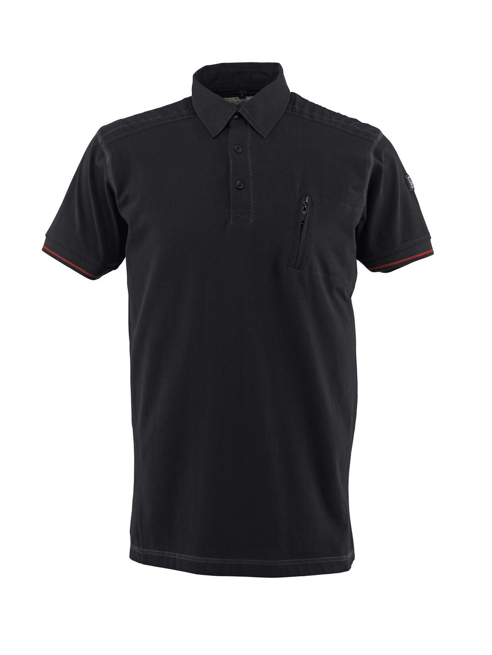 50351-833-09 Polo-Shirt mit Brusttasche - Schwarz
