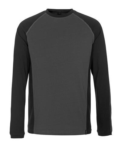 50504-250-1809 Langarm T-Shirt - Dunkelanthrazit/Schwarz