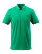 51586-968-333 Polo-Shirt mit Brusttasche - Grasgrün