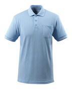 51586-968-71 Polo-Shirt mit Brusttasche - Hellblau