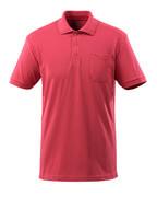 51586-968-96 Polo-Shirt mit Brusttasche - Himbeerrot