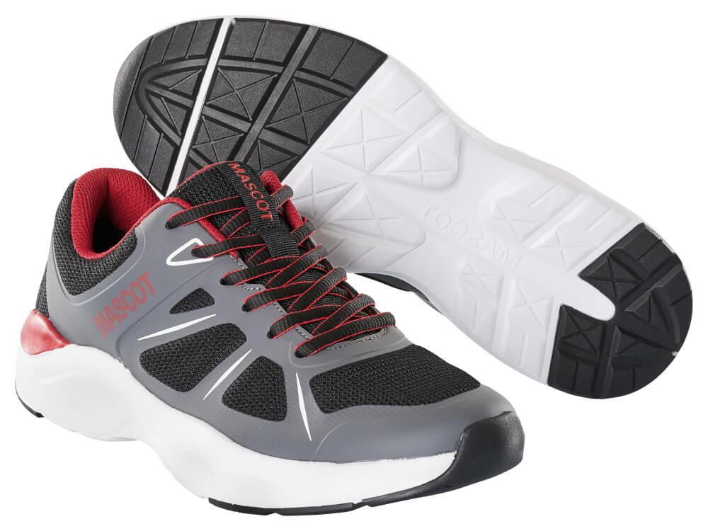 F0950-909-A84 Sneaker - Schwarz/Dunkelanthrazit/Rot